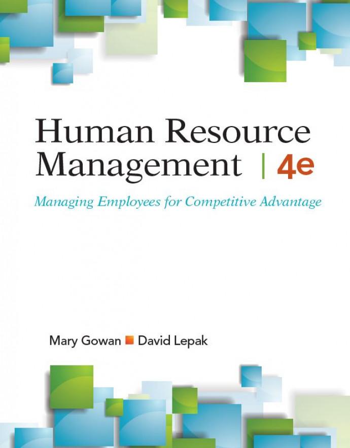 HUMAN RESOURCE MANAGEMENT, 4e