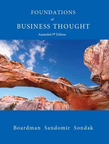 Foundations of Business Thought, 9eFoundations of Business Thought, 9e, Amended Ninth Edition